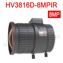 Hik IP Camera Lens DC IRIS Manual Vari-focal Lens 3.8-16mm 8MP IR Aspherical len HV3816D-8MPIR(China)
