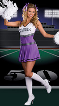 2017 Sexy Cheerleader Dress Costume group support female Cheerleader Dress Sport cheerleading Costume(China)