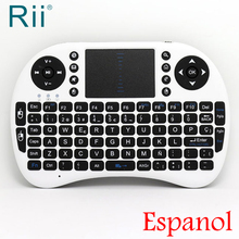 [Free Shipping]Original Rii i8 Spanish(Espanol) 2.4G Wireless Mini Keyboard for Android TV Box/PC White High Quality