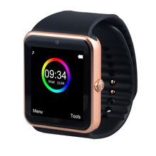free ePacket Smart Watch GT08 Clock Sync Notifier Support Sim Card Bluetooth Connect Apple  Android Phone Smartwatch Russian T30