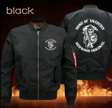 spring men's leisure jacket collar code Air Force pilots hot design jacket sons of Anarchy men's baseball unifor
