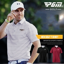 NEW 2017 Men's Golf Apparel Short Sleeve Men T-shirt Polo Shirt Breathable 86% Polyester 14% Spandex High-quality