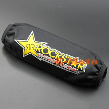 27CM Waterproof Rockstar Rear Shock Absorber Cover Protector Guard Cover for Motorcycle Dirt Pit Bike MX motocross ATV Quad