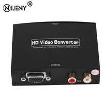 ONLENY Professional 1080P VGA+R/L to HDMI Extractor Converter Audio Splitter LED Indication with DC 5V Power Adapter