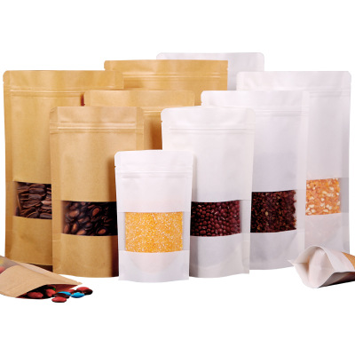 Baking Package Wrapping Bag Kraft Paper Bags Bread Food Gift Cookie Pouch