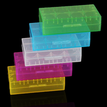 5pcs/set Hard Plastic Transparent Battery Case Box Holder Storage for 18650 CR123A 16340  (Random Color )