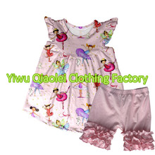 Fashion dance princess design  Kids Clothes Baby Girl Summer Sets Wholesale Children's Boutique Clothing Sets