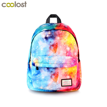 Galaxy Backpack For Teenage Girls Boys Universal Star Bags Starry Night School Backpack Children School Bags Teen College Bag(China)