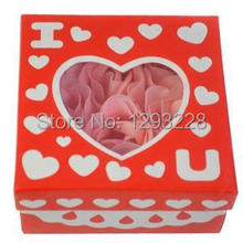 9pcs/set Beautiful  Rose Flower Petal Soap With Gift Box Wedding Decor Party Favors