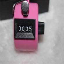 Hand Tally Counter metal counter 4 digit Manual counters Pressing the manual counter People Counting Pink(China)