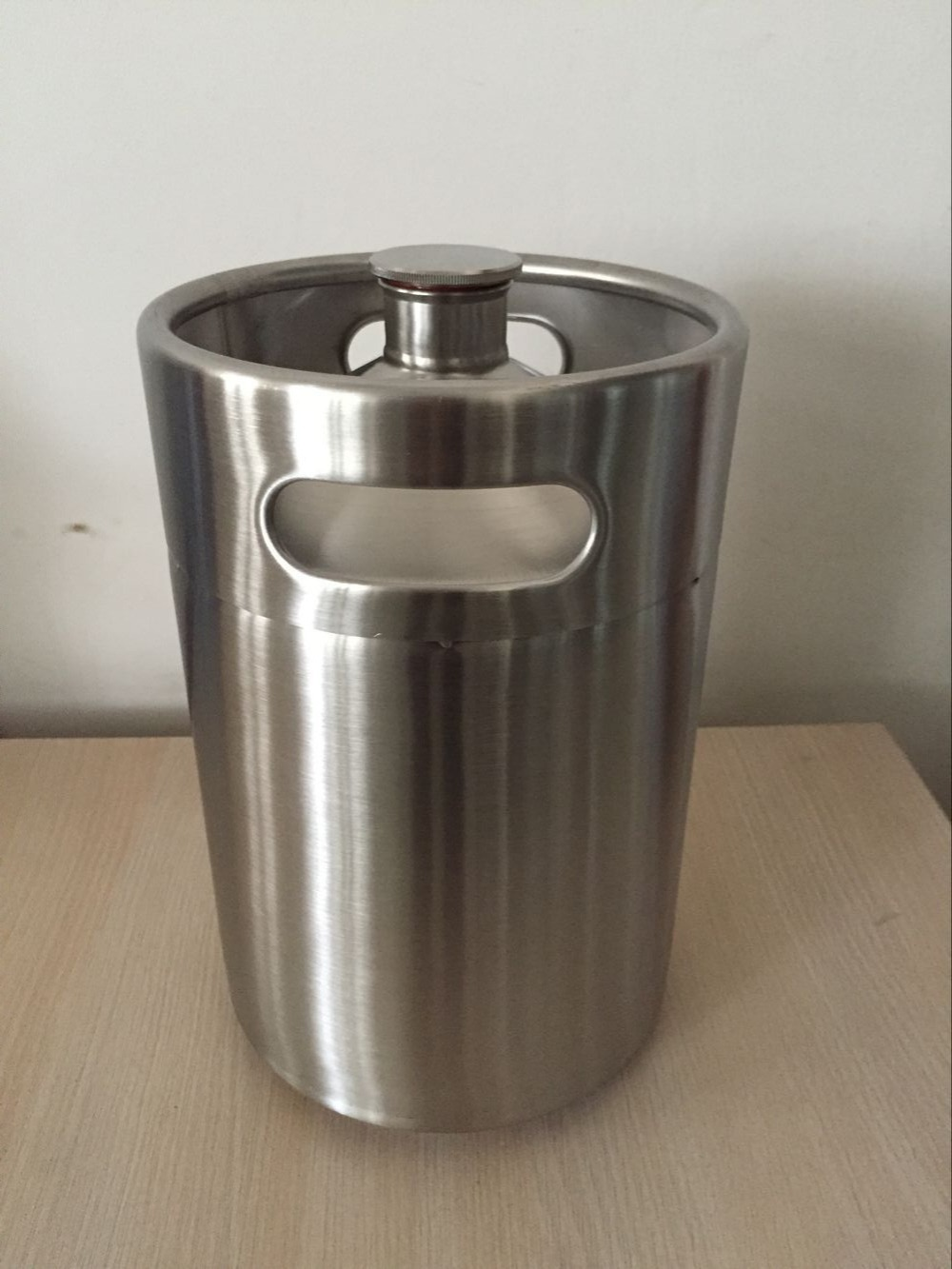 stainless steel beer growler 5L 169oz.,mini keg, bottle,home brewing Homebrew 304 Stainless Steel Mini Keg Growler  -  brewery house Store store