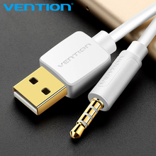 Vention 3.5mm Jack to USB 2.0 Charger Data Cable M/M Audio Headphone Adapter Cord for Apple ipod shuffle 3rd 4th 5th 6th 7th(China)