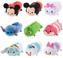 Cute Tsum Tsum Plush Pencil Case Pen Bag Stitch Marie Cheshire Cat Finding Dory Pascal Minnie Mickey Dumbo Sullivan Kids Toys