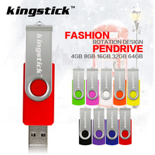 Kingstick U disk swivel colorful usb flash drive usb2.0 memory stick 4GB 8GB 16GB pen drive 32GB 64GB high quality pendrive