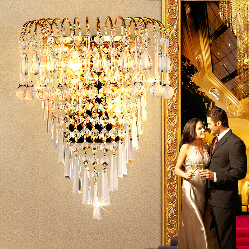 Crystal Wall Sconce Modern Luxury LED Wall Lamp Indoor Crystal Wall Sconce Light Fixture Aisle Corridor Bedroom Bedside Light <br><br>Aliexpress