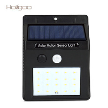 Holigoo Outdoor LED Solar Lamp 20 LED Solar Light Security Solar Power Sunlight Energy For Garage Wall Street Yard Garden Light(China)