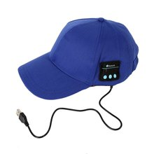 Most Popular Night LED Cap Light Glow Club Party Black Fabric Travel Hat(China)