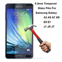 2.5D 9H Explosion Proof Premium Real Tempered Glass Film Screen Protector Guard For Samsung Galaxy A3 A7 A8 E5 E7 J1 J5 J7 2015