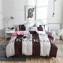 Bedding set Skin friendly cotton duvet cover set Geometric Pattern Quilt cover Bed Sheet Pillowcases 2pcs/3pcs/4pcs 2019 latest(China)