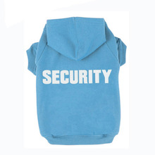 SECURITY Print Puppy Dog costume clothes Hoodie Shirt Summer Dogs Pet Vest T Shirt Sports Clothing for Chihuahua Teddy Favourite(China)