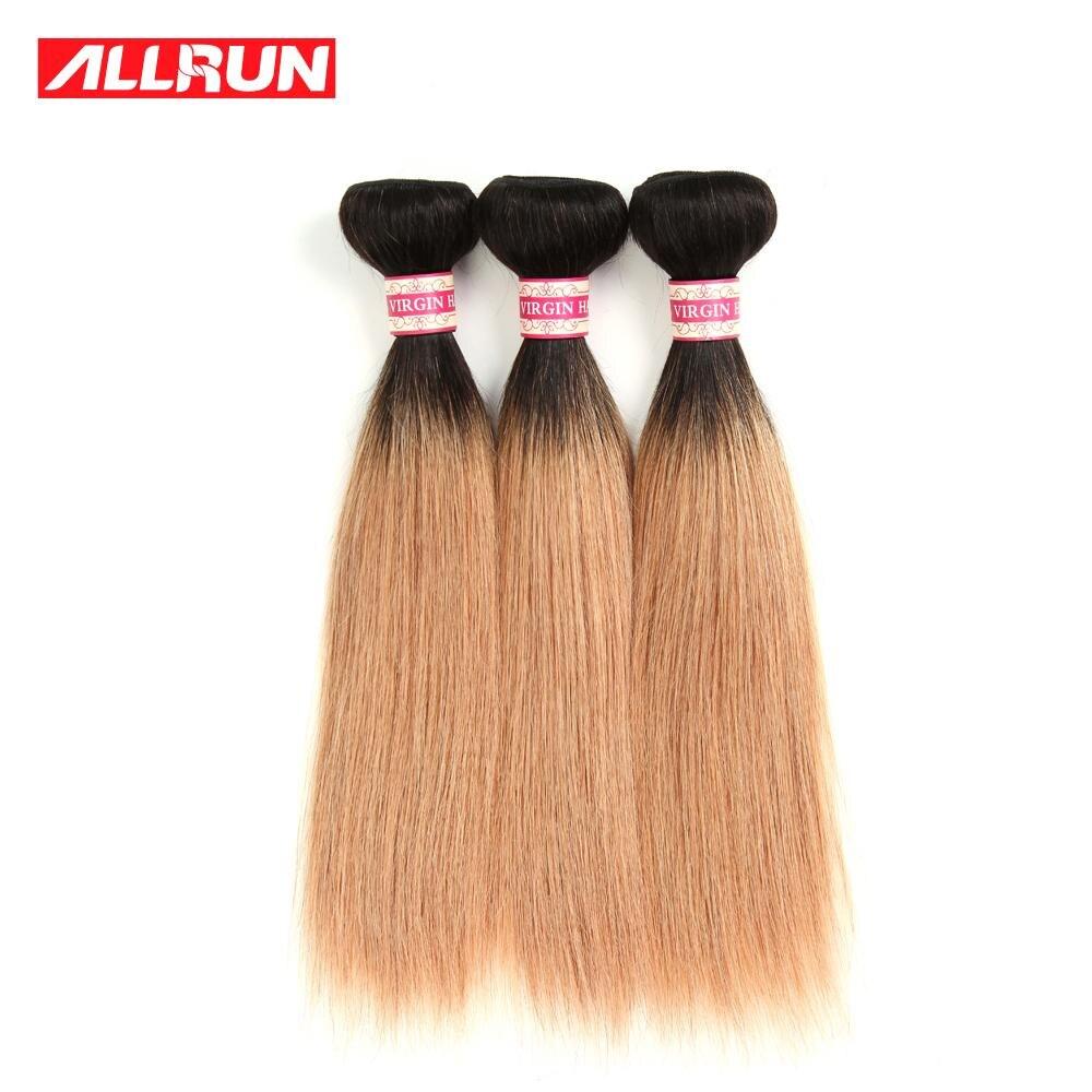 Peruvian Virgin Hair Bundle Deals Straight Virgin Hair 3PCS Ombre Human Hair Extensions Blonde Brown Dark Wine Red Hair Bundles<br><br>Aliexpress