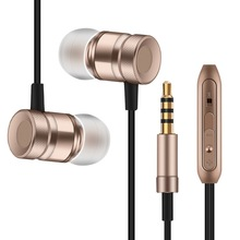 Professional Earphone Metal Heavy Bass Music Earpiece for Panasonic Eluga Prim / Pure Headset fone de ouvido With Mic(China)