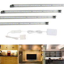 4 pack kitchen led under cabinet lights strip tube bar for home decoration counter display wall lighting energy saving lamps