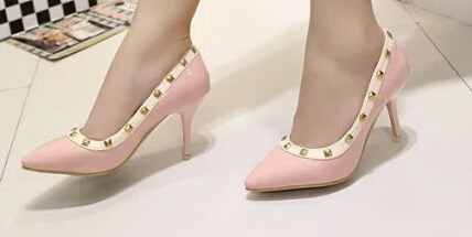 Hot Women Rivets Pumps Shoes Ladies Sexy Pointed Toe High Heels Buckle Studded Stiletto High Heel Sandals Shoes 2016<br><br>Aliexpress