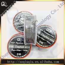 Origina QQ Stainless Steel Double 316L clapton wire Resistance Wire  size 24ga/26ga/28ga (5m/roll) for ecigarette RDA wire