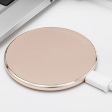 Luxury Wireless Charger Pad Metal tablet Wireless Charging Pad for Iphone 5 6 7 Plus Samsung Galaxy S6 S7 Edge Plus Yota phone 2