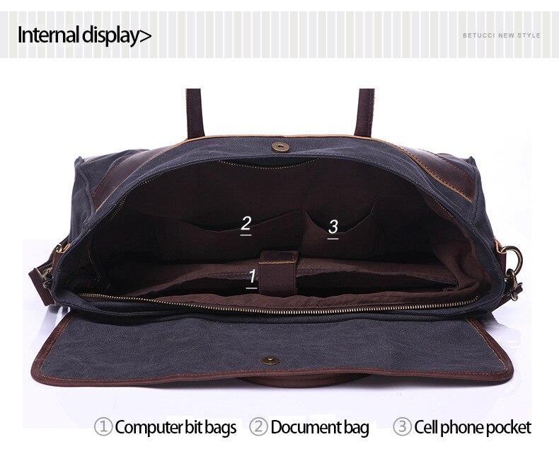 G-FAVOR New Briefcase bag shoulder messenger bags Laptop computer bags For Men Scratch-resistant Waterproof Canvas Business Bags