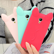 Candy Colors Sweet lovely Colorful 3D Soft Cat ears  Silicone Cartoon Phone Case Cover for Meizu M3 NOTE Meilan Note 3