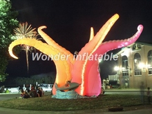 China suppliers Pink Giant inflatable jellyfish octopus tentacles inflatable tentacles with led lights for decorations