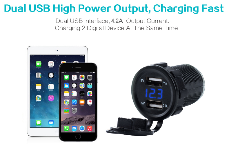 usb car charger with voltage 02