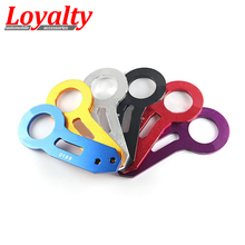Loyalty Racing Double Letter Universal Car Styling Logo Rear Towing Hook Tow Bars For CIVIC,INTEGRA EG EK DC DC2 Free shipping(China)