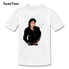 Michael Jackson T Shirt Kids Cotton Short Sleeve O Neck Tshirt children's Costume 2017 Rock N Roll Star T-shirt For Boy Girl
