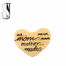 2015 New Arrive Rose Gold Mom Mother Mama Heart Stainless Steel Floating Plates Charm For floating Locket Necklace(China)
