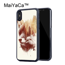 MaiYaCa Blind Fox Style Cases For Apple iPhone X TPU Soft Shell For iPhone X Case New Phone Protective Cover(China)