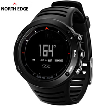 NORTH EDGE Mens Sport Digital Watches Hours Climbing Hiking Compass Altimeter Barometer Weather Thermometer Running Swimming(China)