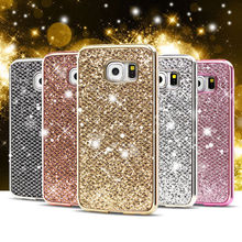 Luxo Bling Soft Case Para Samsung Galaxy S8 S8 Plus + J3 J5 J7 2017 J530 J730 A3 A5 A7 J1 2016 S4 S5 S6 S7 Borda Capa Protector(China)