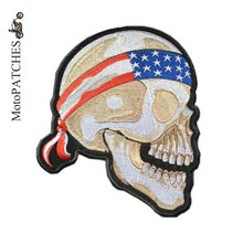 Big Biker Patches Oversize Harley Hair Band Skeleton Badges Logo Embroidered Motorcycles Custom Made Iron On Patches