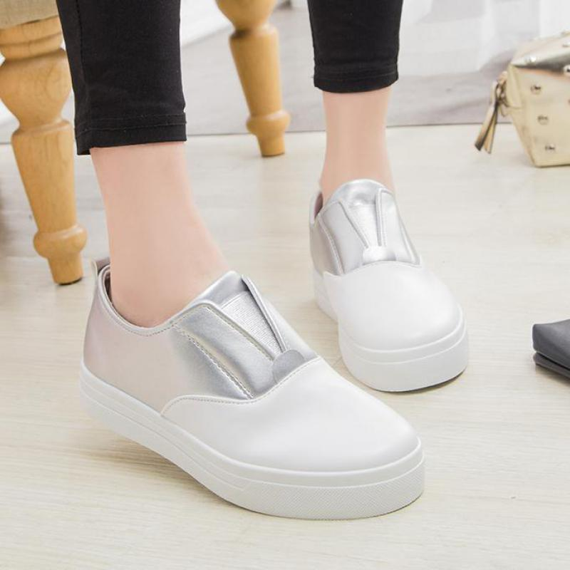 2017 Spring New Mixed Colors Platform Casual Shoes Women Round Toe Slip-on Muffin Soled Flats Loafers White Womens Shoes L20<br><br>Aliexpress