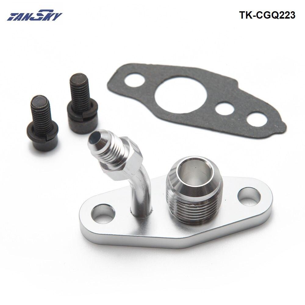 Turbo Oil Return Feed & Drain Flange For TOYOTA CT20 CT26 4AN 10AN (M8 x 1.25mm) TK-CGQ223