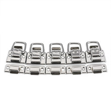 5pcs Chest Box Trunk Suitcase Trinket Tool Latch Clasp Chrome Iron Toggle Latch For Cases Boxes Chests Lock High Quality