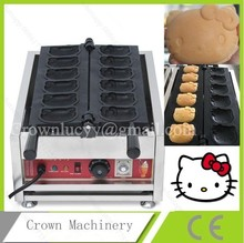 Electric Hello kitty shaped Cartoon Waffle maker custom plate; waffle iron(China)