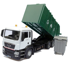 DIECAST METAL 1:32 MAN GARBAGE TRUCK MODEL TOYS DUSTCART VEHICLE REPLICA