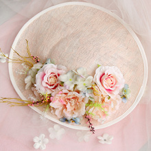 Royal Bride Wedding Dress Hair Accessories  Party DIY Handmade Flower Sinamay Fascinator Clip Hat For Show/Cocktail Headdress