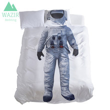 WAZIR Ballet dance astronaut 3D Digital printing Children bedding set Duvet cover/pillowcase 3Pcs Bedroom decoration bedclothes(China)