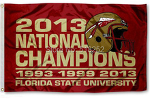 Florida State Champion Years Flag 3x5FT 150X90CM NCAA Banner 100D Polyester Custom flag grommets,(China)