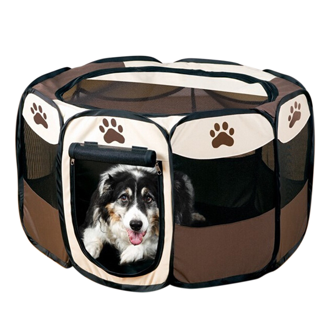 Portable Pet Carrier Dog Playpen Pet Fence Folding Pet Tent Dog House Cage Cat Puppy Playpen Kennel Playpen for Dogs(China)